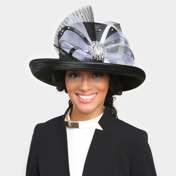 d1b4da7521b69 Accessories | Kentucky Derby Hat Black New Church Tea Party Hat ...